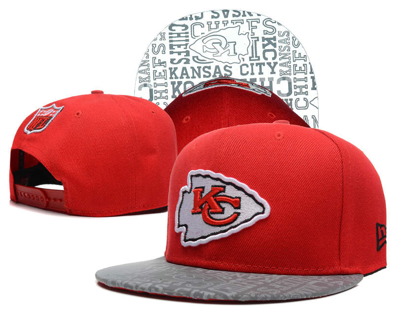 Kansas City Chiefs 2014 Draft Reflective Red Snapback Hat SD 0613